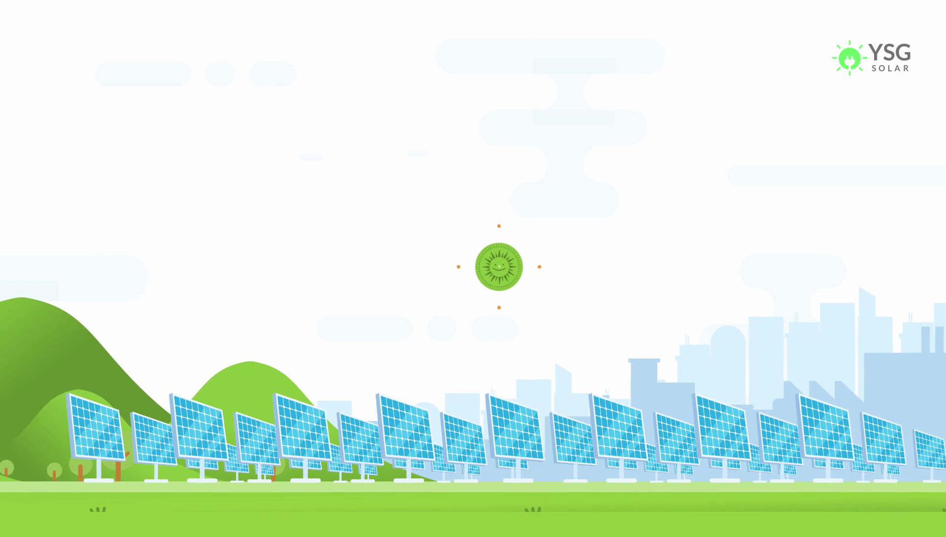A Solar Credit Animated Above A Field of Solar Panels