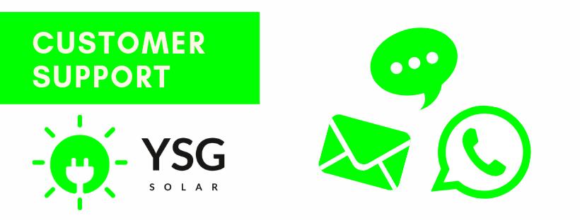 Customer Support Graphic, YSG Solar