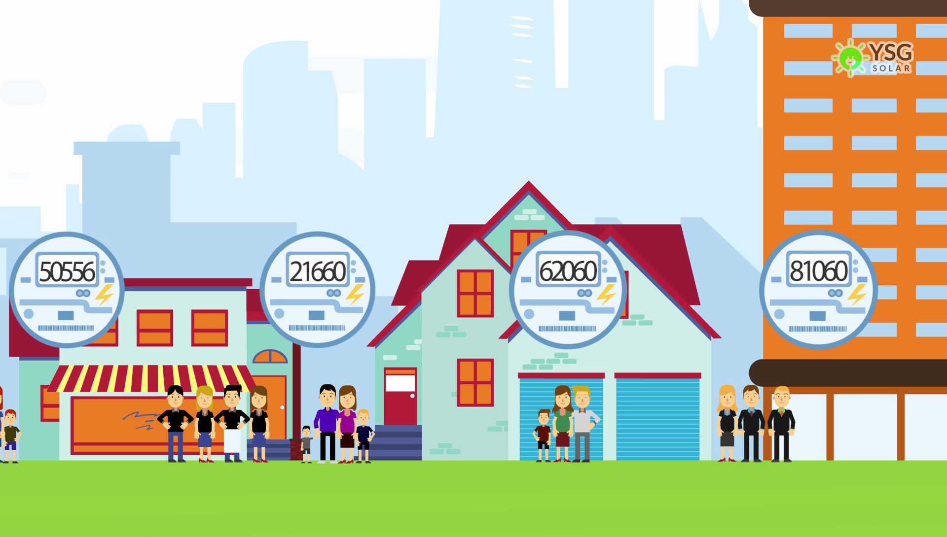 Residential and Commercial Properties With Community Solar Subscription