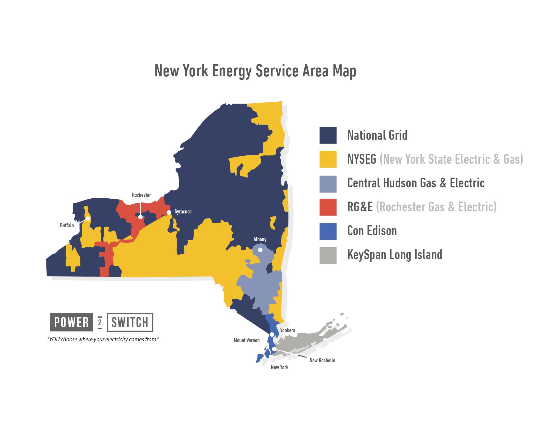 New York Utilities Map