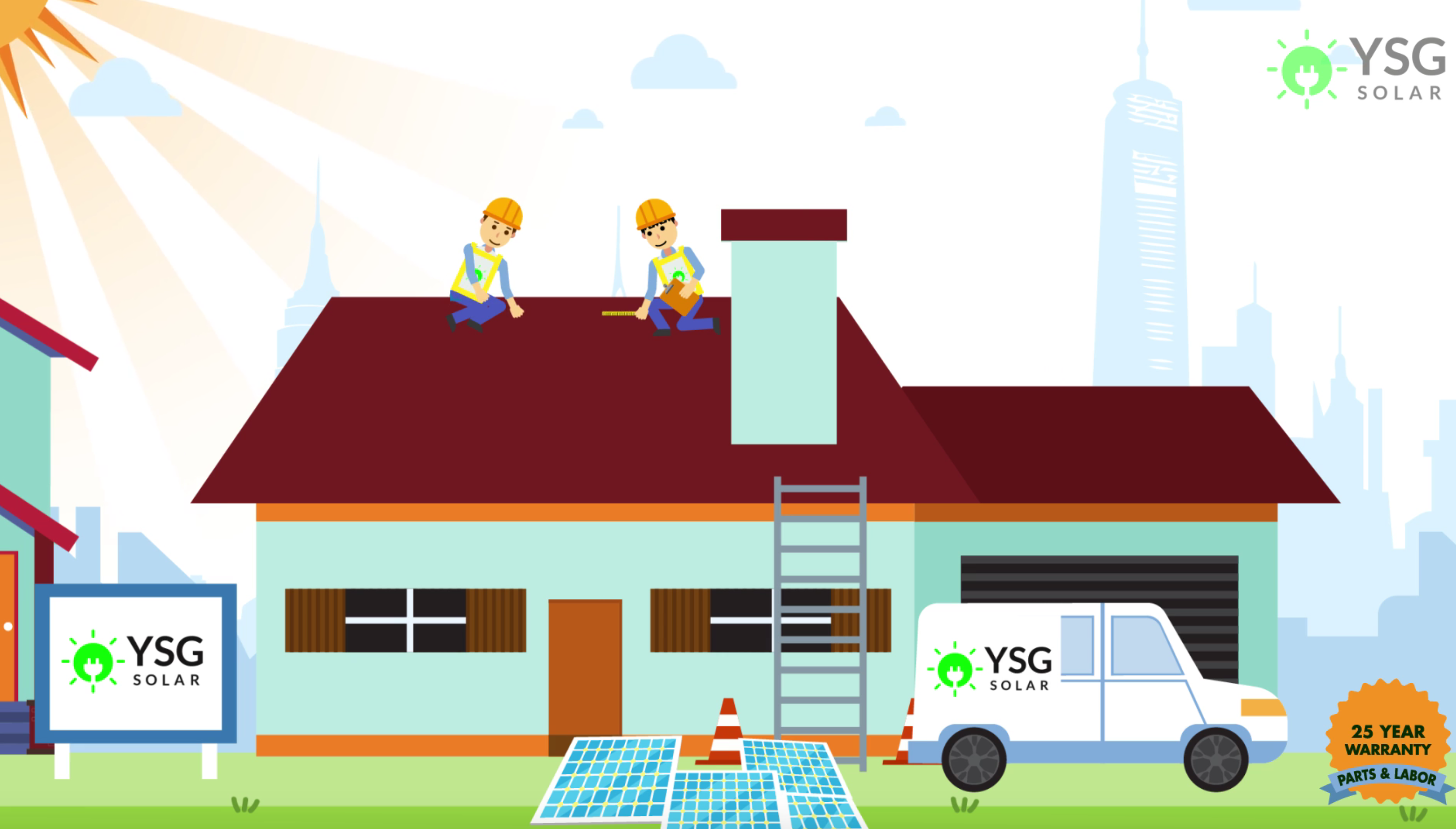 YSG Solar 25 year warranty