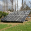 residential solar panel array in Huntington, NY