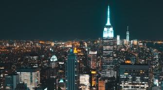 New York City, Skyline, Nighttime, YSG Solar