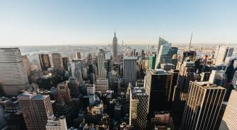 New York City, New York, Manhattan, Aerial View