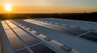 Solar Panels on Large Rooftop, YSG Solar