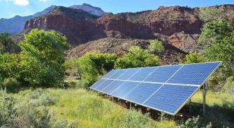 Solar Panels Scenic Backdrop, YSG Solar