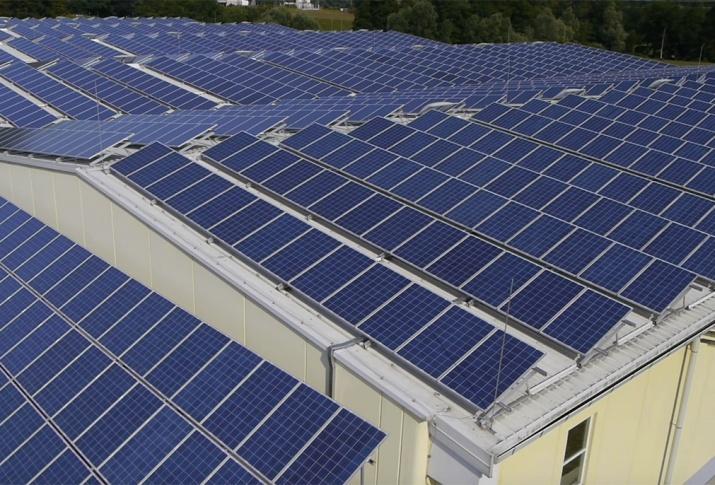 YSG Solar, Many solar panels on roof of building, NY