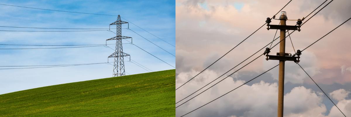 Transmission Power Lines, Distribution Lines, YSG Solar